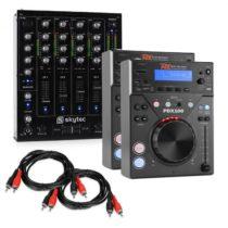"""Electronic-Star Electronic Star """"CD DJ Starter"""", 4-kanálový mixážny pult + dva DJ prehráče"""