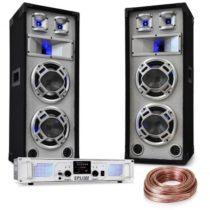"Electronic-Star ""White Noise"", DJ PA set, 2 x 500W zosilňovač, 600W reproduktory, reproduktorový káb..."