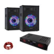 LED10BT, DJ PA sada, 2 x PA reproduktor Fenton, HiFi zosilňovač Skytec, reproduktorový kábel