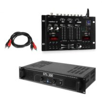 Skytec SPL300, sada s PA zosilňovačom a mixážnym pultom Resident DJ 22 BT