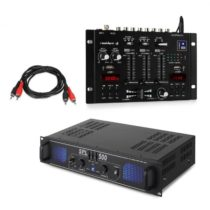 Skytec SPL500EQ, sada s PA zosilňovačom a mixážnym pultom Resident DJ 22 BT 2CH