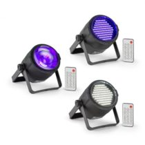 Beamz PLS30, sada V3, Jellyball, 10 W, 4 v 1 RGBW LED, LED stroboskop PLS15, LED reflektor PLS20
