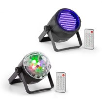 Beamz PLS35, Jellyball sada V5, 4 x 3 W LED diódy, UV Par LED reflektor, PLS20 Blacklight