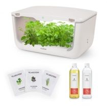 Klarstein GrowIt Farm Starter Kit Asia, 28 rastlín, 48 W, 8 l, semená Asia Seeds, živný roztok