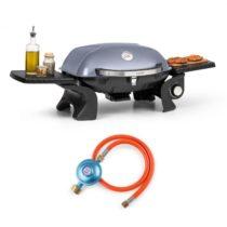 Klarstein Parforce One, plynový gril, 3,5 kW, 12000 BTU, 300 °C, SNJS, plynová hadica, sivý