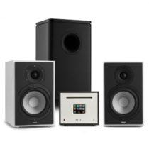 Numan Unison Reference 802 Edition, stereo systém, zosilňovač, reproduktory, biela/čierna