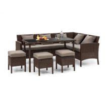 Blumfeldt Titania Dining Lounge Set, záhradná sedacia súprava, hnedá/hnedá