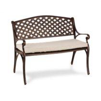 Blumfeldt Pozzilli AN, záhradná lavička & podložka na sedenie, starožitná meď/béžová