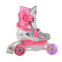 Detské kolieskové korčule WORKER TriGo Skate LED - so sv. kolieskami