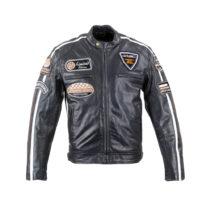 Pánska kožená moto bunda W-TEC Black Cracker