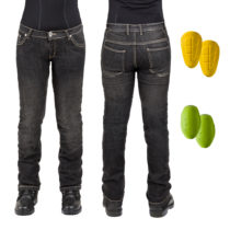 Dámske moto jeansy W-TEC C-2011 čierne