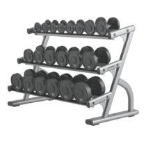 Stojan na činky Life Fitness Optima 3-Tier Dumbbell Rack