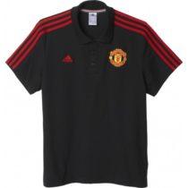 adidas MUFC 3S POLO čierna M - Pánska košeľa