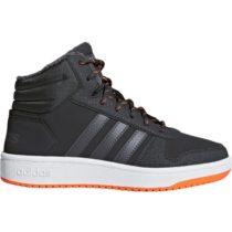 adidas HOOPS MID 2.0 K sivá 3.5 - Detská voľnočasová obuv