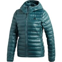 adidas VARILITE DOWN HOODED JACKET zelená L - Dámska bunda