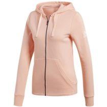 adidas ESSENTIALS SOLID FULLZIP HOODIE svetlo ružová M - Dámska mikina