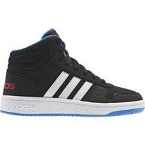 adidas VS HOOPS MID 2.0 K čierna 31 - Detská voľnočasová obuv