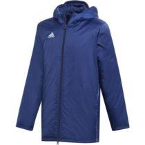 adidas CORE18 STD JKT tmavo modrá 152 - Chlapčenská  športová bunda