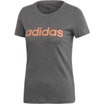 adidas E LIN SLIM TEE tmavo šedá L - Dámske tričko