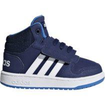 adidas HOOPS MID 2.0 I tmavo modrá 20 - Detská voľnočasová obuv