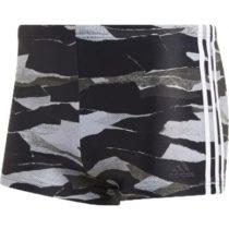 adidas FITNESS 3-STRIPES GRAPHIC SWIM BOXER šedá 6 - Pánske plavecké šortky