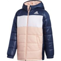adidas YK J SYNTHETIC svetlo ružová 140 - Juniorská zimná bunda