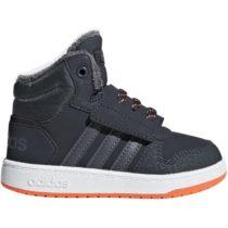 adidas HOOPS MID 2.0 I sivá 25 - Detská voľnočasová obuv
