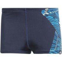 adidas PRO PLACED GRAPHIC SWIM BOXER modrá 5 - Pánske plavecké šortky