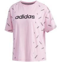 adidas W PRINT TEE ružová XL - Dámske tričko