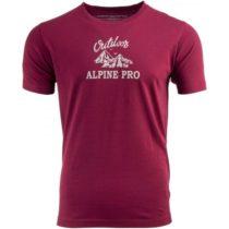ALPINE PRO DARNELL 2 vínová M - Pánske tričko