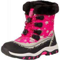ALPINE PRO TREJO ružová 28 - Detská zimná obuv