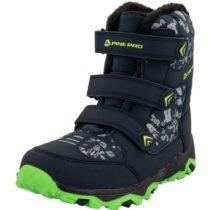 ALPINE PRO TRISTO tmavo modrá 29 - Detská zimná obuv