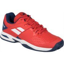Babolat PROPULSE CLAY JR červená 4 - Juniorská tenisová obuv