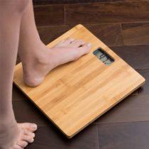 Bambusová digitálna osobná váha