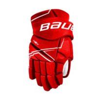 Bauer NSX GLOVES JR červená 12 - Juniorské hokejové rukavice