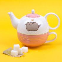 Čajník so šálkou Pusheen