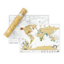 Cestovateľská stieracia mapa sveta