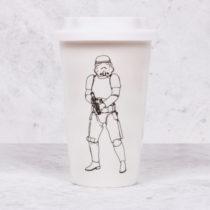 Cestovný keramický hrnček Original Stormtrooper - biely