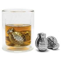 Chladiace kovové granáty do nápojov