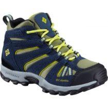 Columbia YOUTH NORTH PLAINS MID WP žltá 6 - Detská outdoorová obuv