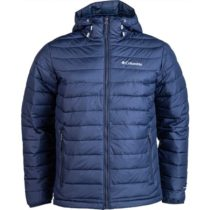 Columbia POWDER LITE HOODED JACKET modrá M - Pánska bunda
