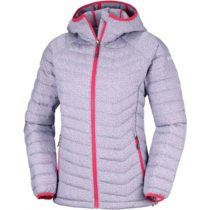 Columbia POWDER LITE HOODED JACKET fialová M - Dámska zimná bunda