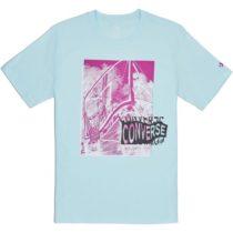Converse HOOP THERE IT IS PHOTO TEE modrá S - Pánske tričko