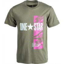 Converse ONE STAR PHOTO SHORT SLEEVE TEE šedá S - Pánske tričko