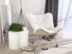 Skladacia stolička Dormeo Cozy, sivá