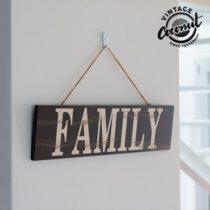 Dekoračná tabuľa vintage Family