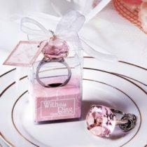 Prívesok diamantový prsteň - ružový
