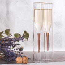 Dizajnové poháre na šampanské (2 kusy)