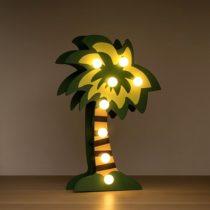 Drevená dekoračná palma s LED žiarovkami
