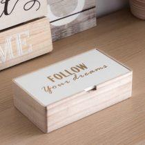 Drevená krabička Follow your dreams